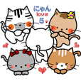nyan love 5.We are good friends cats.