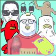 strange eipc team pop Sticker