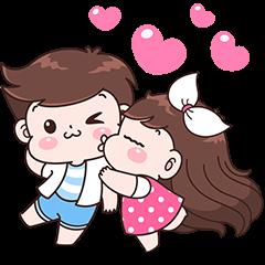 Boobib Couple Effect Stickers