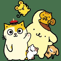 布丁狗&黃阿瑪~當狗狗遇上貓貓~