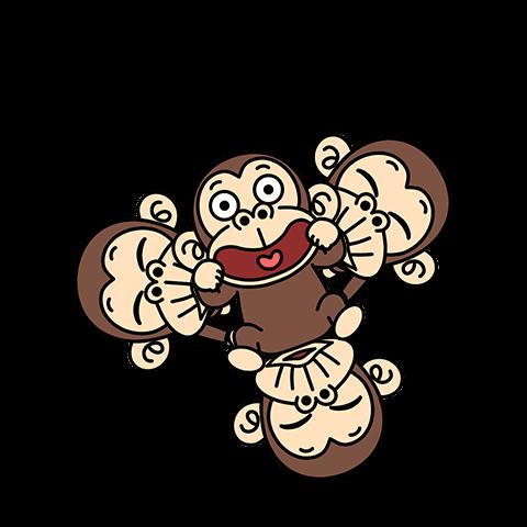 Funny Monkey Pop-Ups 3