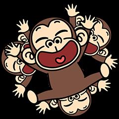 イラッと飛び出す★お猿さん3