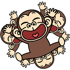 Funny Monkey Pop-Ups 3