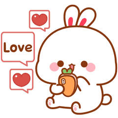 Lovely Tooji Effect Stickers