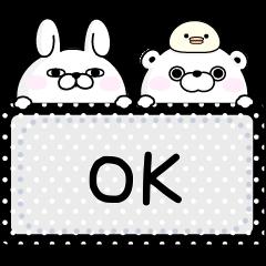 YOSISTAMP-100% Rabbit Message Stickers