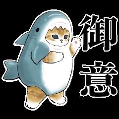 サメにゃん×LINEスキマニ
