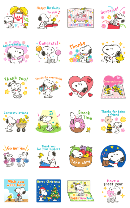 Snoopy Special Event Stickers