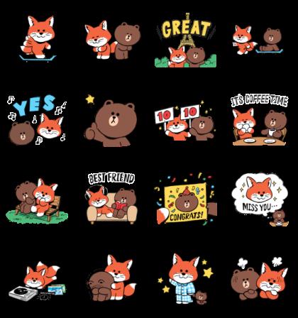 Maison Kitsuné Collab Sticker
