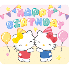 Hello Kitty Pop-Up Greeting Stickers