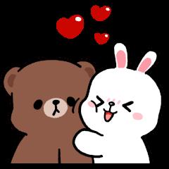 สติ๊กเกอร์ไลน์ BROWN & FRIENDS × Gkomo