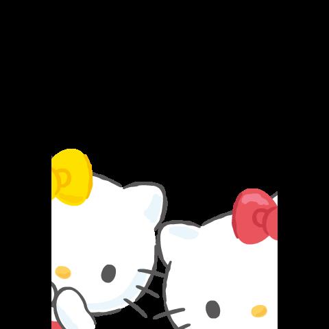【中文版】Hello Kitty全螢幕貼圖〜問候篇〜