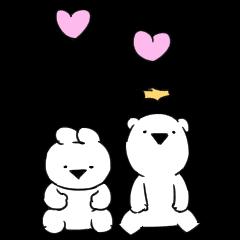 超級好動的小兔子和小熊 滿滿的愛