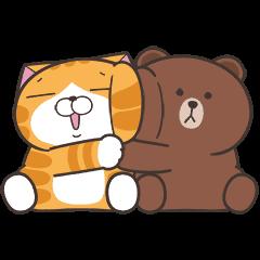 Lan Lan Cat × BROWN & FRIENDS Stickers