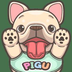 French Bulldog PIGU-Big Sticker XVII