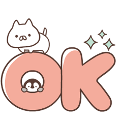 Penguin and Cat Days Big Letter Stickers
