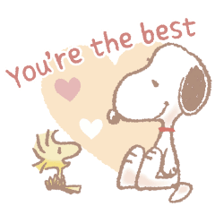 Fluffy Snoopy's Caring Stickers