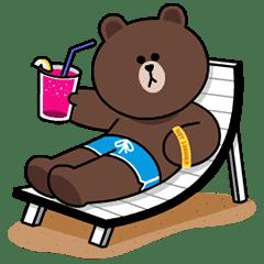 LINE卡通明星(快樂假期篇)