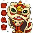 Chinese New Year sticker for benediction
