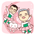 Stickers of Dr.Shih and Dr.Shih Junior
