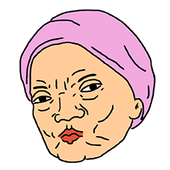 Grandma's weird expression