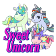 sweet unicorn sticker