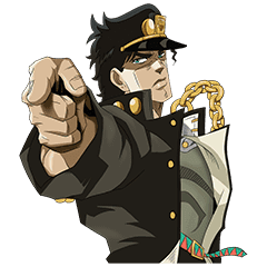 Jojo No 3 Jotaro S Team Line Stickers Line Store