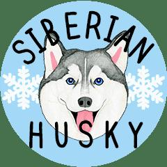 Siberian Husky Motion Sticker English Line Stickers Line