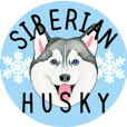 Siberian Husky motion Sticker -English