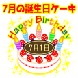 birthday sticker / 7 / July