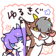Japanese kemono sticker