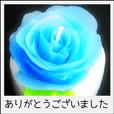 手作りキャンドルフォトスタンプ 日本語
