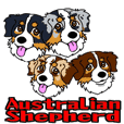 Australian Shepherd's Animated Sticker