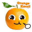 Orange emoji super Q