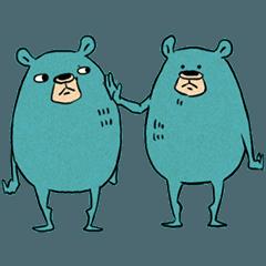 Mr. Blue Bear Stickers
