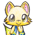 Cute Color pencil-drawn Fox