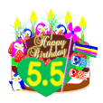 May birthday cake Sticker-001