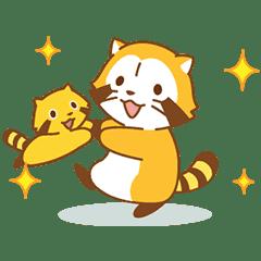 Happy☆小浣熊 動態貼圖