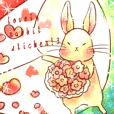 Lovely rabbit sticker!3<Picture only>