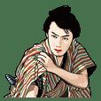 Raizo Ichikawa Sticker Set