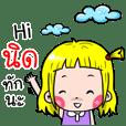 Nid Cute girl cartoon