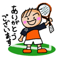 Sticker for men's tennis club. Honorific