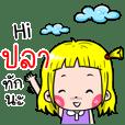 Pla Cute girl cartoon