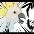 二面性のある敬語の鳥スタンプ