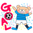 Sticker of a light-blue soccer team 2018