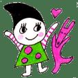 Mikan & Usakichi. Daily friend sticker.