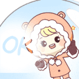 Woolie Cute Girl In A Snowglobe