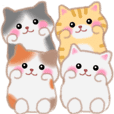 Four plump cats animation 2