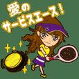 Arisa gets engrossed in tennis.