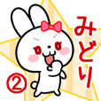 The white rabbit with ribbon Midori#02