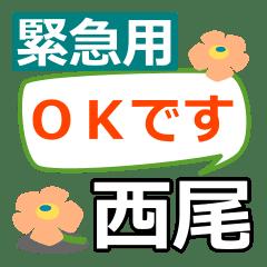 Emergency use[nishio]name Sticker